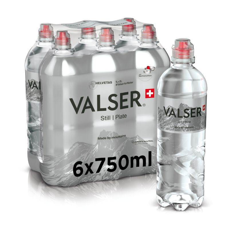 Valser Still Sportscap 6 x 0.75l PET, large