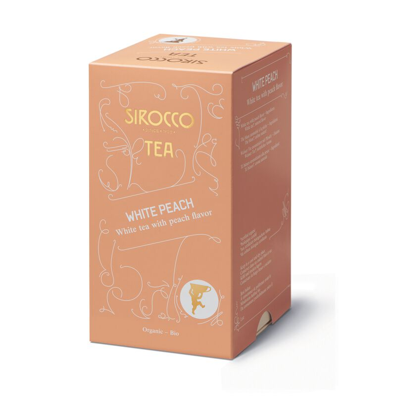 Sirocco White Peach 20 x 2.5g Tee in Sachets, large