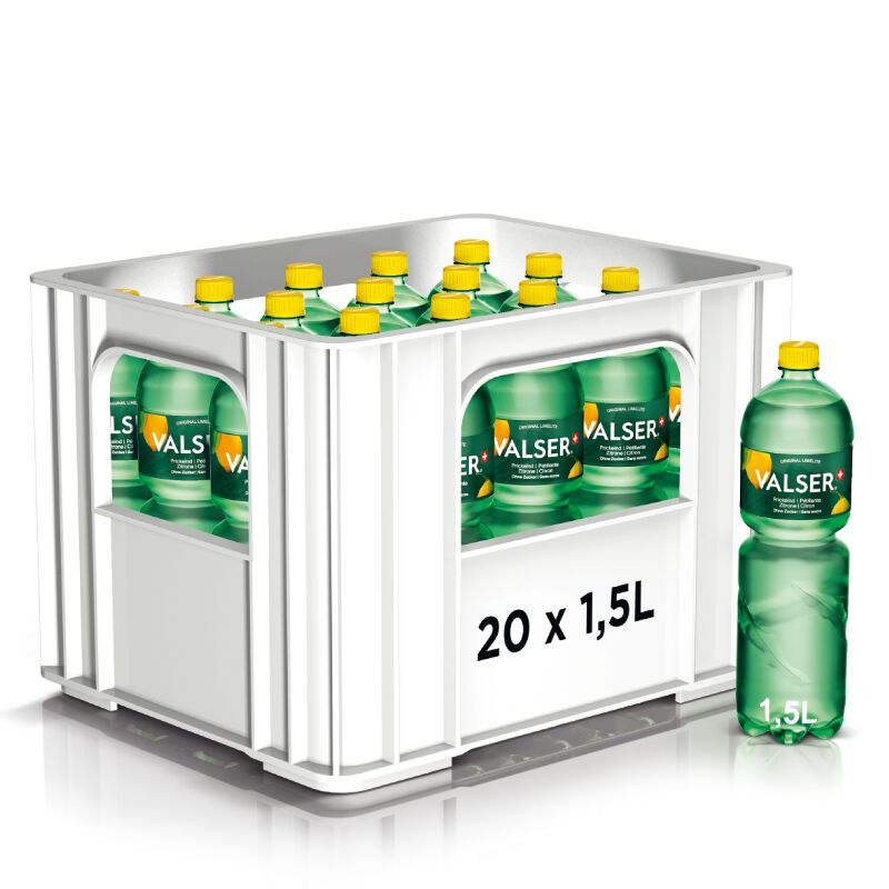Valser Prickelnd Zitrone Harass 20 x 1.5l PET, large