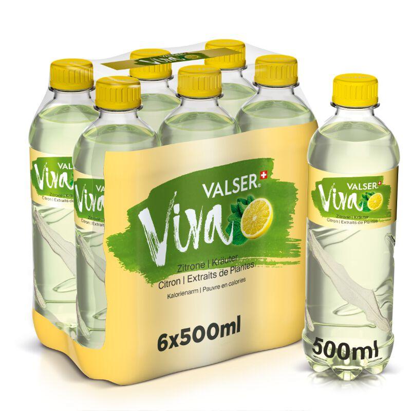 Valser Viva Zitrone & Kräuter 6 x 0.5l PET, large